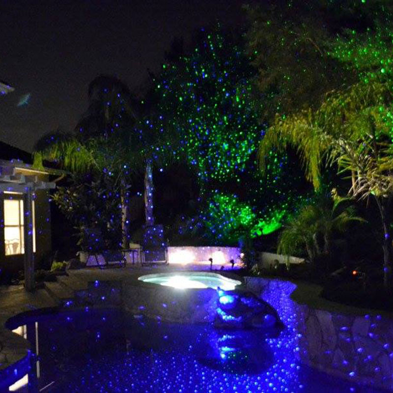 outdoor laser projector blue move effect holiday christmas lights for home garden pool decorations in stage lighting effect from lights lighting on
