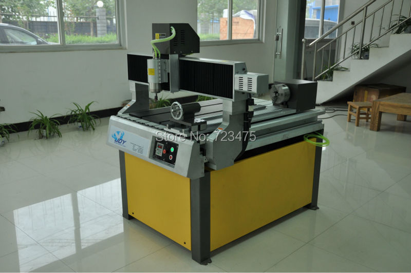 cnc metal router 6090 4th rotary axis cnc 4th axis 6090 model