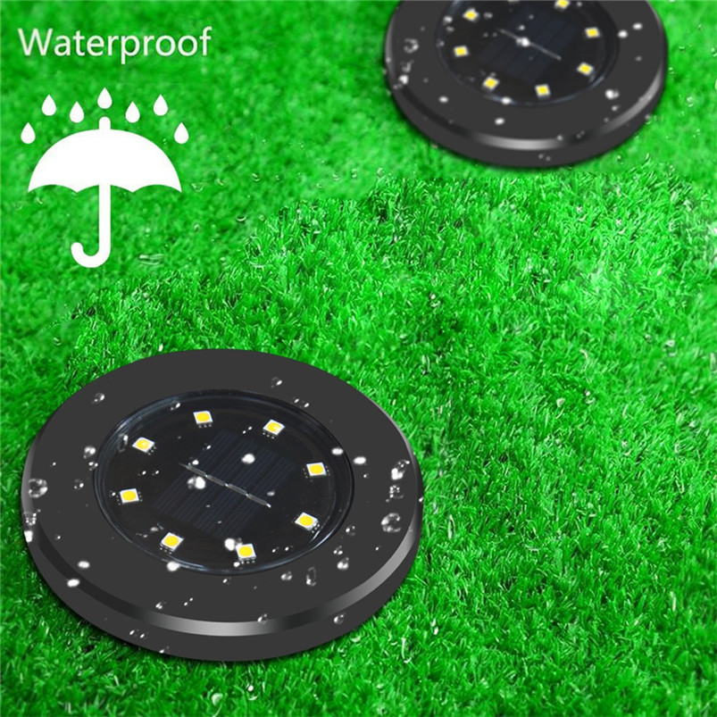 Logical Solar 8 Led Underground Lamps Outdoor Path Light Spot Lamp Yard Garden Lawn Landscape Waterproof Warm White Luces 40ap8 Fashionable Patterns Led Lamps Lights & Lighting