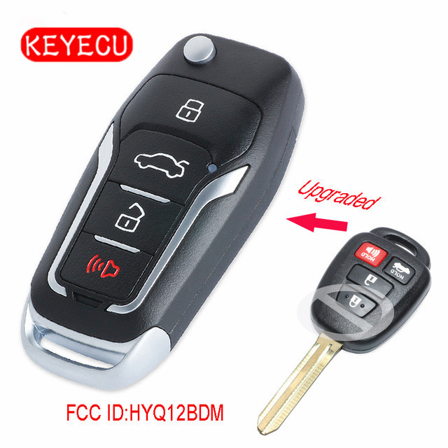 US $26 9 |Keyecu Upgraded Flip Remote Car Key Fob for Toyota RAV4 Camry  Corolla 2014 2016 314MHz H Chip FCC ID: HYQ12BDM-in Car Key from  Automobiles &