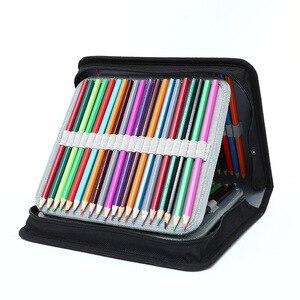 Image 5 - Профессиональный школьный чехол для карандашей с 120/168/216 отверстиями, чехол для карандашей, пенал, коробка для ручек для детей, красочная художественная сумка, большая сумка для хранения, пенал