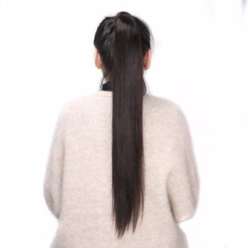 BHF 100 ludzki peruka z kucykiem brazylijski maszyna Remy kucyk owinąć skrzyp peruka 120g treski naturalne proste ogony tanie i dobre opinie Remy maszynowe 100 g sztuka Tylko ciemniejszy kolor Tylko 1 sztuka Na klipsy Realny kolor Brazylijskie włosy