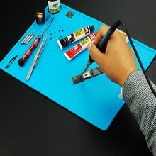 35*25CM silicon anti static mat soldering iron mat soldering station soldering mat free shipping недорого