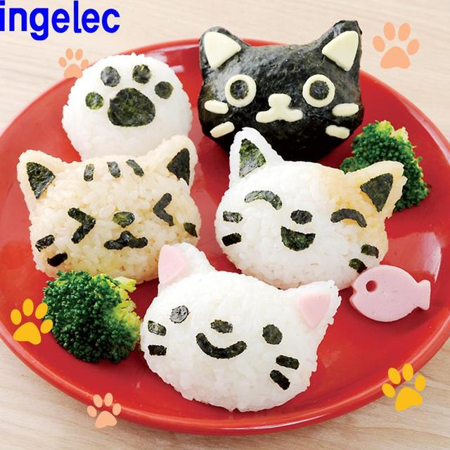 Super Cute Little Kitty Cartoon Rice And Nori Seaweed Cheese  Roll Mold For Diy  Sushi Maker  Japanese-bento Kitchen Accessories