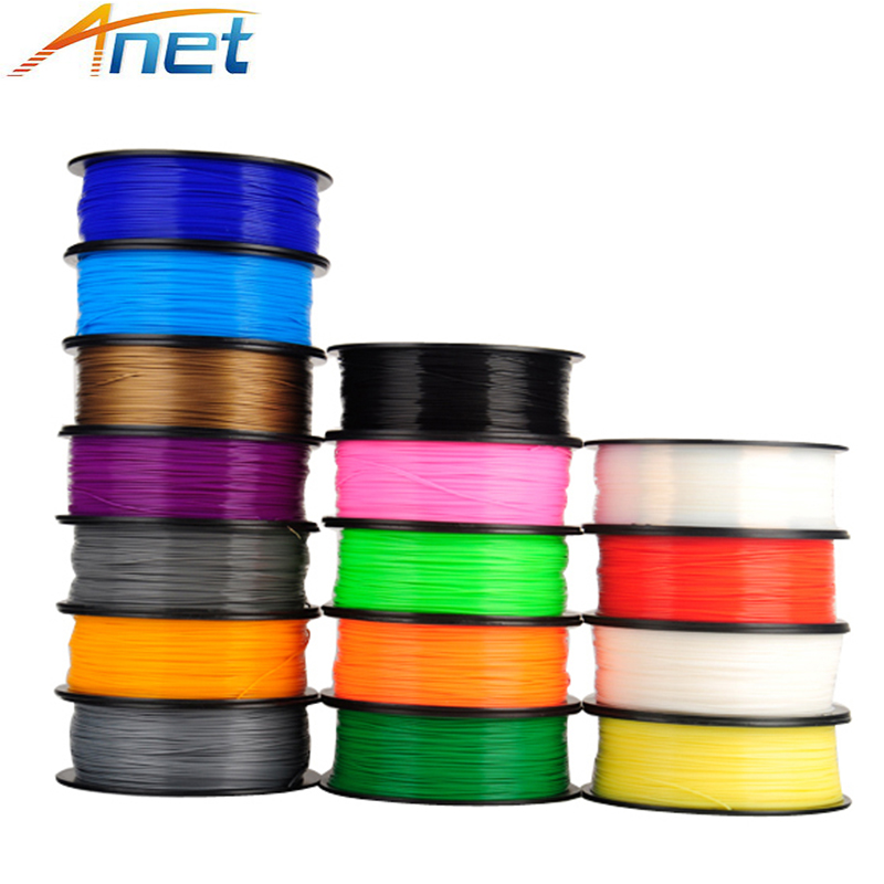 5roll/lot 1kg/roll Anet 1.75mm PLA Filament 3D Printer Filament Plastic Rubber Consumables Material 4 Colors Option-in 3D Printing Materials from Computer & Office
