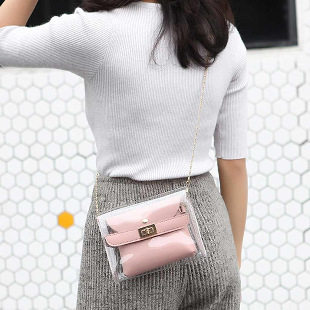 PVC dame bandoulière Mini sac femme sacs de soirée mode dame épaules gelée paquet lettre sac à main téléphone portable sac de messager