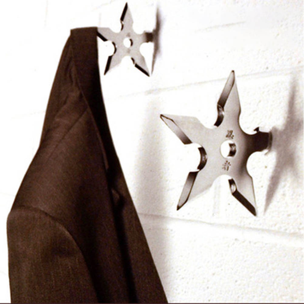 1 piece Wall Coat Metal hangers Novelty Home Decor Star Shape Hats Scarves Racks  Cool Stainless