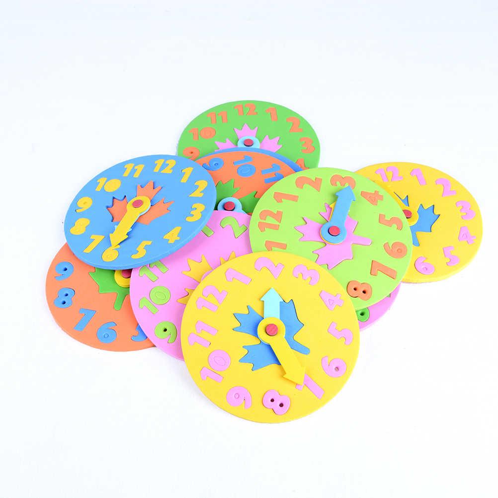2 pçs/lote DIY Relógio de Aprendizagem Educação Brinquedos Divertido Jogo de Matemática Para Crianças Crianças Presentes do Brinquedo Do Bebê 3-6 Anos velho Relógio de Brinquedo