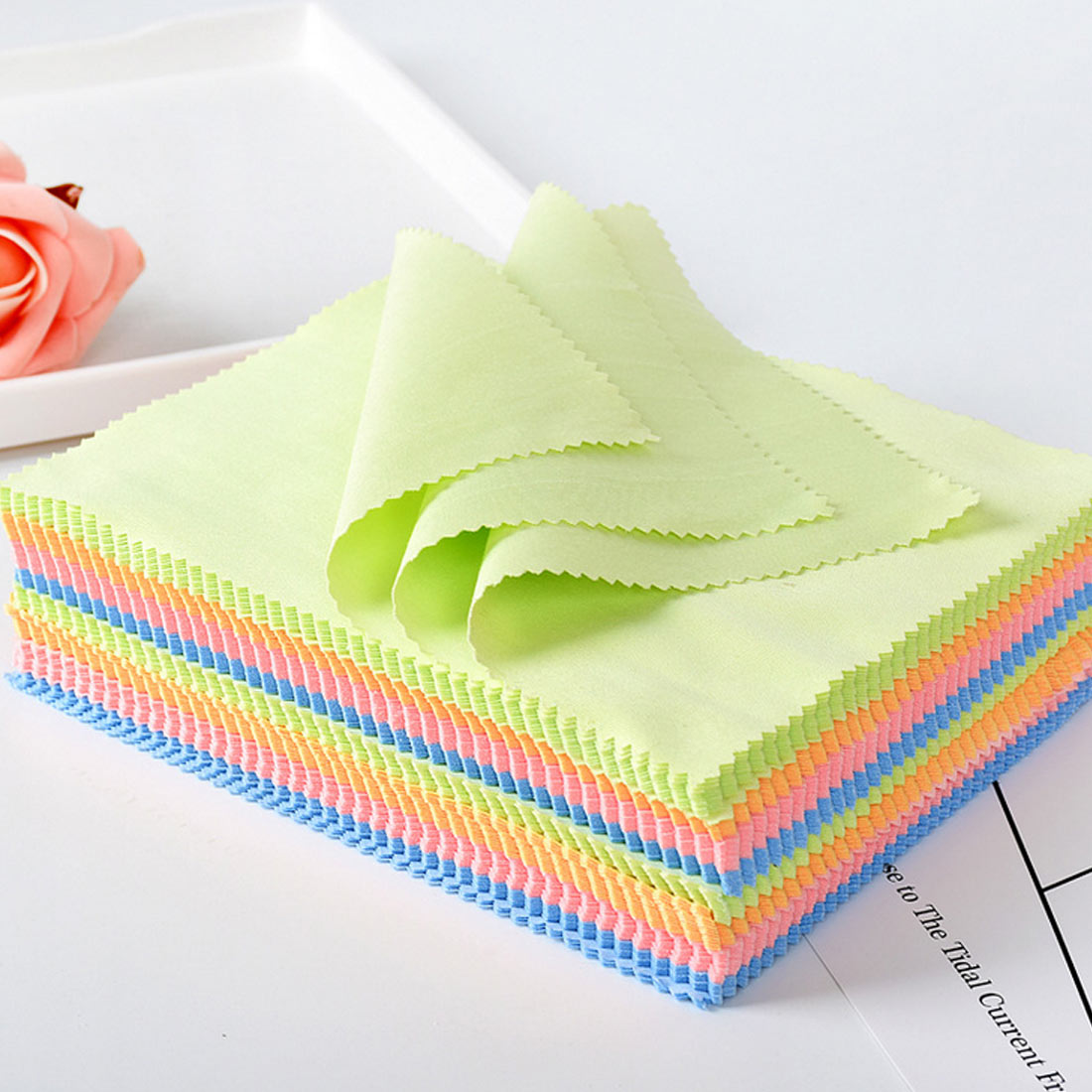 Wipe Silver Jewelry Polishing Cloth Silver Ornaments Cloth Candy Color  Cleaning Cloth Useful Jewelry Tools