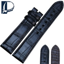 Pesno Suitable for Zenith Black Brown Watch Accessory Alligator Medium Gloss Crocodile Leather Watch Strap Men Watchband