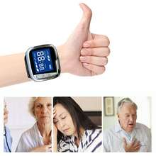 Red Light Cold Laser Therapy Watch Semiconductor Pain Relief Low Level Laser Therapy Wrist Watch Home for Elderly Diabetes watch of wrist of 650 mm drop three tenors semiconductor fields rhinitis nasal congestion wrist laser fieldsnew wrist laser ther