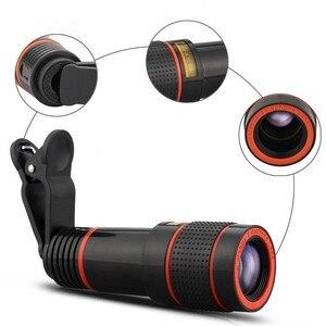 Image 2 - Telefon fotoğraf teleskop 8X kez telefoto HD telefon mercek için evrensel lens iphone X 8 7 6 s xiaomi HUAWEI samsung akıllı telefon