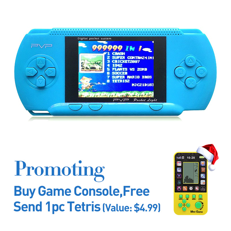 """JXD Freeshipping 2.8"""" Retro Portable Game Handheld Player Build in 8-16Bit Game Support AV Cable TVOut  Video Game Console PVP"""