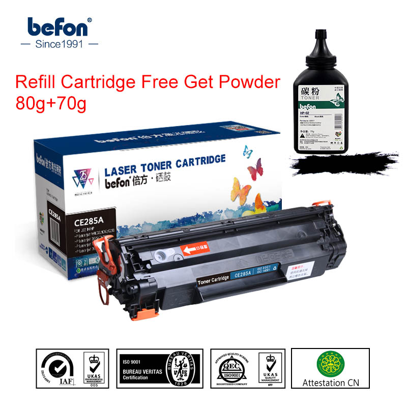 Befon Toner-Cartridge-Replacement Laserjet 85A CE285A P1102 M1130 HP for M1212 Easy-Refill