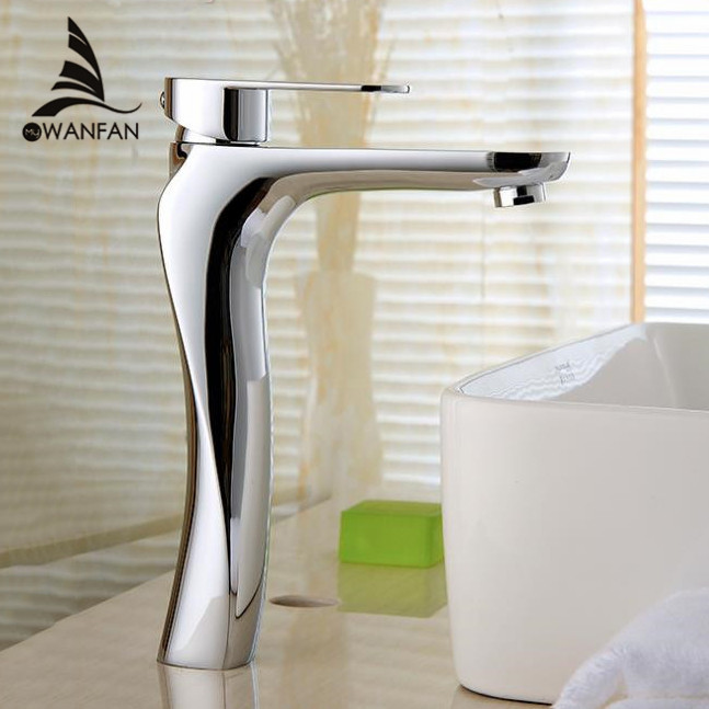 Basin Faucets Solid Brass Chrome Modern Bathroom Sink Faucet Single Handle Washbasin Hot Cold Mixer Water Tap Torneira 817-22L xoxo modern bathroom products chrome finished hot and cold water basin faucet mixer single handle water tap 83007