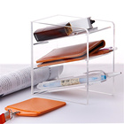 Transparent Acrylic Inclined Pen Holder Multi-function Pen Holder Office Supplies
