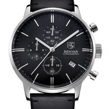 Reloj Hombre BENYAR Fashion Men's business watches Waterproof Mens Top Brand Luxury Quartz Watch Clock Men Relogio Masculino