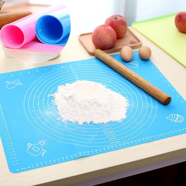 LF Sxsounai Silicone Baking Mat Pizza Dough Maker Pastry Kitchen Gadgets Cooking Tools Utensils Bakeware Kneading Accessories 4