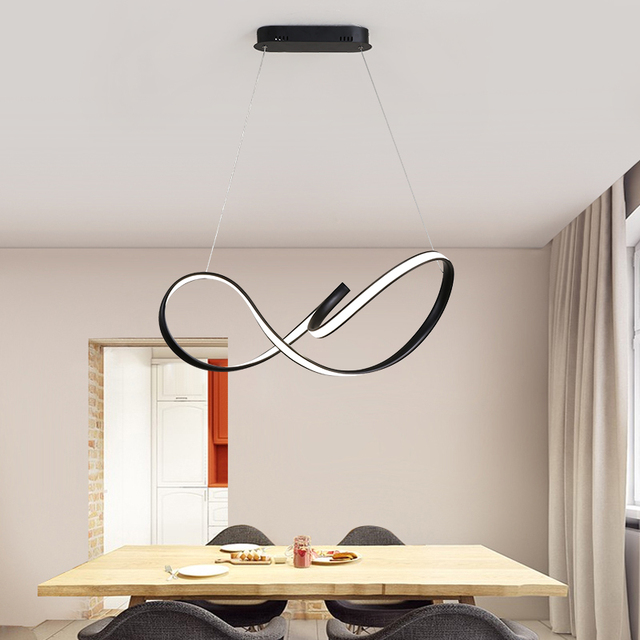 NEO Gleam White/Black Modern LED Pendant Light For Living room Bedroom Dining room Hanging Lamp LED Pendant Lamp Led Lustre