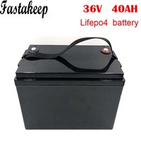 LiFePO4 battery 36V 40Ah electric bike motor scooter battery pack with 5A charger