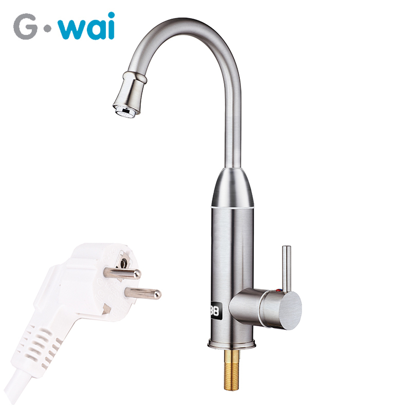 GWAI Instant Hot Water Tap Kitchen Cocina Water Heater Faucet Tankless Water Heater Tap Fast Heating Verwarming Musluk 220V-240V