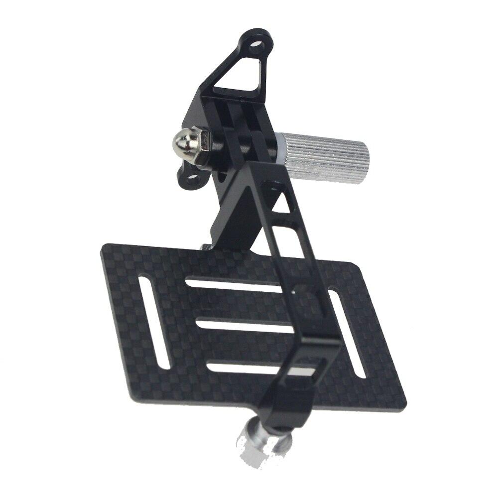 Carbon Fiber Anti-Vibration PTZ Plate Mount For Gopro Hero Action Cameras For DJI Phantom 1 2 FPV Drone Quadcopter Gimbal Mount