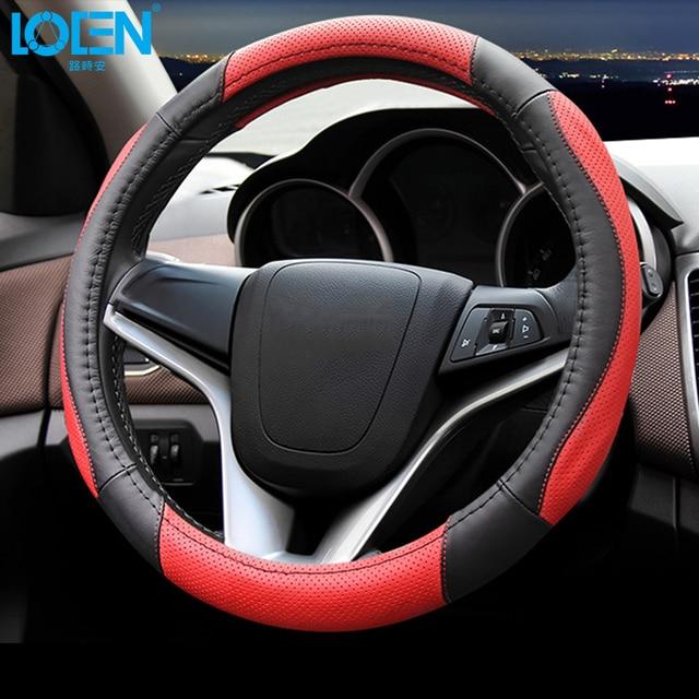 Universele Hoge Kwaliteit Lederen Auto Stuurhoes Voor Bmw Ford 0