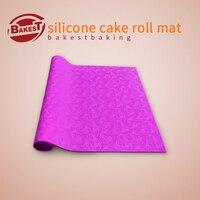 Bakest siliconen ei roll mat met flower patroon mooie taart roll pad