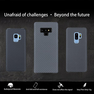 Image 1 - Full Protection Aramid Fiber Case for Samsung Galaxy note 8 9 Shockproof For Samsung S9 S9 Plus Case Cover Carbon Fiber Pattern