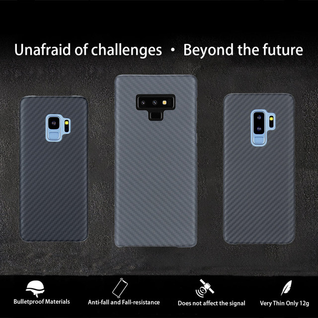 Full Protection Aramid Fiber Case for Samsung Galaxy note 8 9 Shockproof For Samsung S9 S9 Plus Case Cover Carbon Fiber Pattern