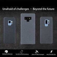 Volledige Bescherming Aramid Fiber Case Voor Samsung Galaxy Note 8 9 Shockproof Voor Samsung S9 S9 Plus Case Cover Carbon fiber Patroon