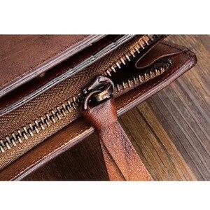 Image 5 - AETOO Handmade กระเป๋าสตางค์ชายแนวตั้งส่วนหนังนุ่มหนังกระเป๋าสตางค์ชายหนุ่มผู้หญิงผักกระป๋องหนัง VINTAGE กระเป๋าสตางค์