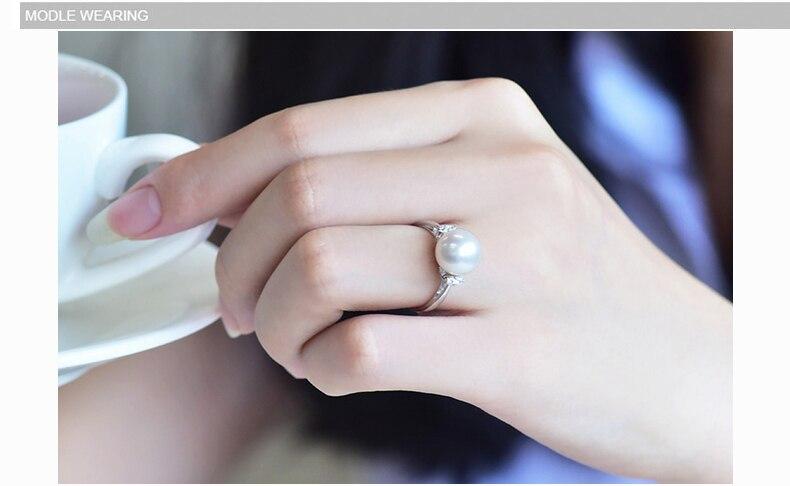 ZHBORUINI μόδα μαργαριτάρι δαχτυλίδι - Κοσμήματα μόδας - Φωτογραφία 4
