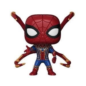Image 2 - Funko POP Marvel Avengers 3: nieskończoność wojna #300 Iron Spider Man figurka lalki prezent urodzinowy kolekcja prezentów zabawki modele