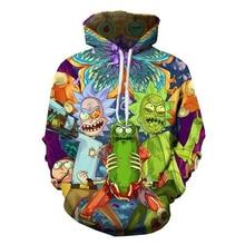 Hipster Jacket 3D Print Cartoon Ricky and Morty Hoodies Men/Women Funny Hip Hop Streetwear Hood Sweatshirt Pullovers Tops 5XL