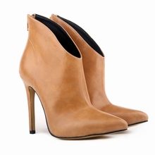 WOMENS FAUXLEATHER HIGH STILETTO HEELs PLATFORM ANKLE BOOTS SHOES US4-11 LADIES 769-1YP