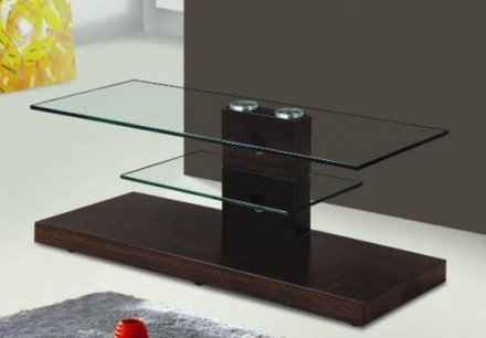 TV Stand  With 8mm Tempered glass and MDF with painting.