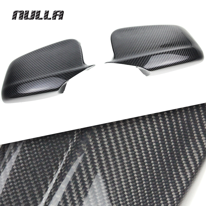 NULLA Carbon Fiber Side Rear View Mirror Replacement Cover Wing for BMW 5 Series F10 520i 528i 535i 518d 2010 2011 2012 2013 for ford mustang 2008 2009 2010 2011 2012 2013 add on style carbon fiber rear view mirror cover black finish
