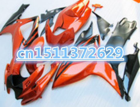 Bo <font><b>Fairings</b></font> for A <font><b>GSXR</b></font> <font><b>600</b></font> K6 06 07 orange black <font><b>GSXR</b></font> 750 K6 06 07 GSX-R600 750 2006 <font><b>2007</b></font> ABS <font><b>fairing</b></font> <font><b>kits</b></font> image