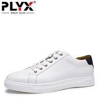 PHLIY XUAN Retro Británico Zapatos Casuales Masculinas 100% Blanco Hecho A Mano Para Hombre Mocasines de Cuero Genuino Chaussure Homme de Marca