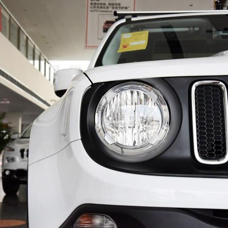 Accesorios Exterior del coche del Cromo Cubierta de la Linterna Del Faro Para Jeep Renegade 2016