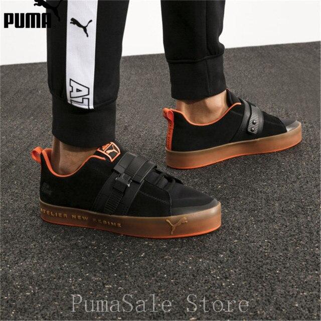 79defba72de5 New Arrival PUMA x Atelier New Regime Court Platform Brace ANR Men s  Badminton Shoes 366537 02 Black Men Sneaker Size EUR39-44