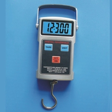 50kg 110 LB LCD Digital Fishing Hook Scale Electronic Travel Luggage Crane Scales Thermometer Clock Tape Hanging Weight Balance