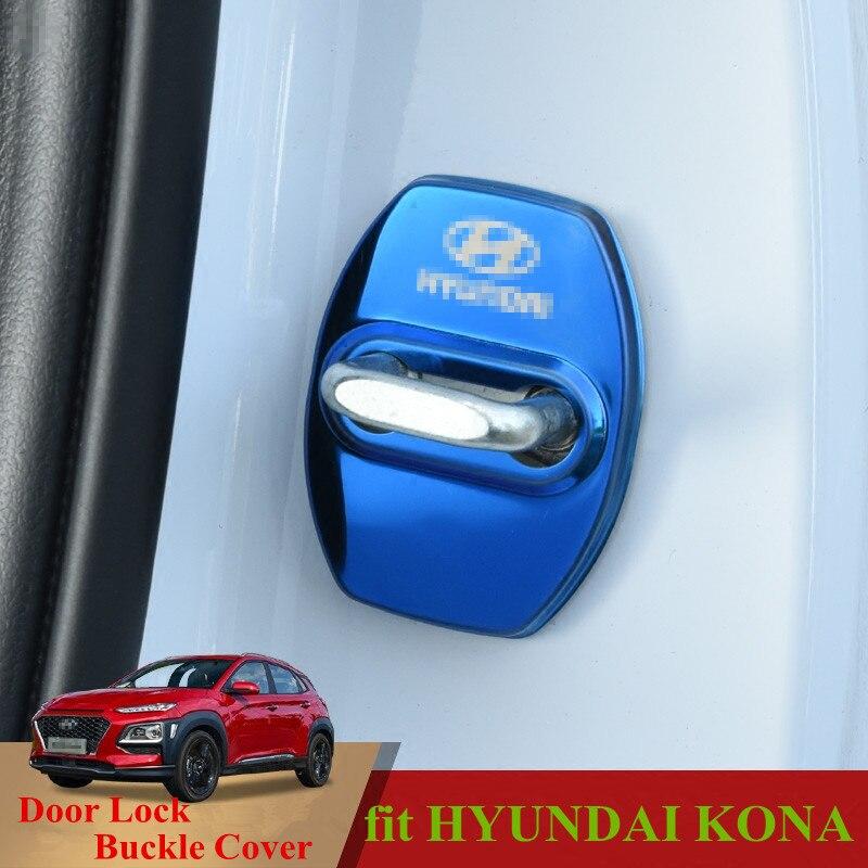 For Hyundai KONA/KAUAI 2018 Car Door Lock Key Cover Latch Stop Anti Rust Water Proof Door Lock Keys Protect Buckle Cover Kona