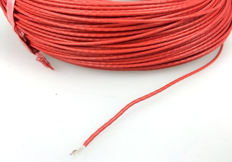MINCO HEAT] Red Teflon Jacket Low voltage Electric Blansket Wire 12V ...