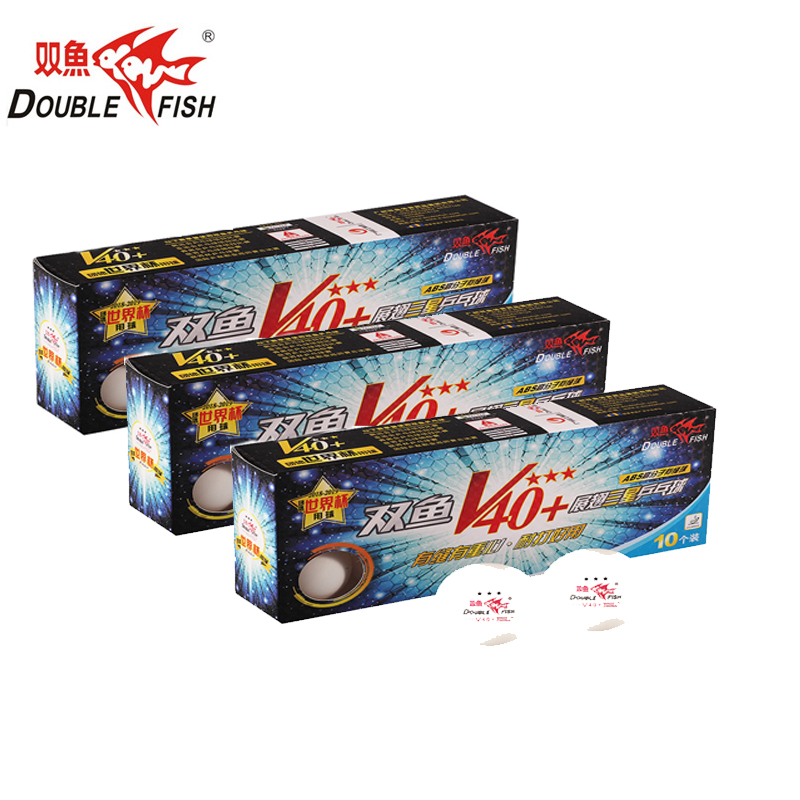 New Original 3 Packs DOUBLE FISH Volant V40+ 3 Star Table Tennis Balls ABS Seam PingPong Ball ITTF 2018 World Cup Official Balls