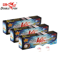 цены New Original 3 packs DOUBLE FISH Volant V40+ 3 Star Table Tennis Balls ABS Seam PingPong Ball ITTF 2018 World Cup Official Balls