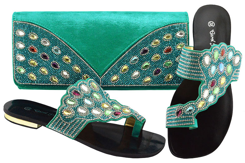 все цены на New Arrival Teal Color Italian Shoes with Matching Bags Shoes and Bag Set African Sets 2018 Shoe and Bag For Wedding JZC001 онлайн