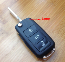 Flip Folding Key Shell for VW VOLKSWAGEN SEAT SKODA POLO  Sagitar GOLF Remote Key Case Fob NEW 3 BN 202AD
