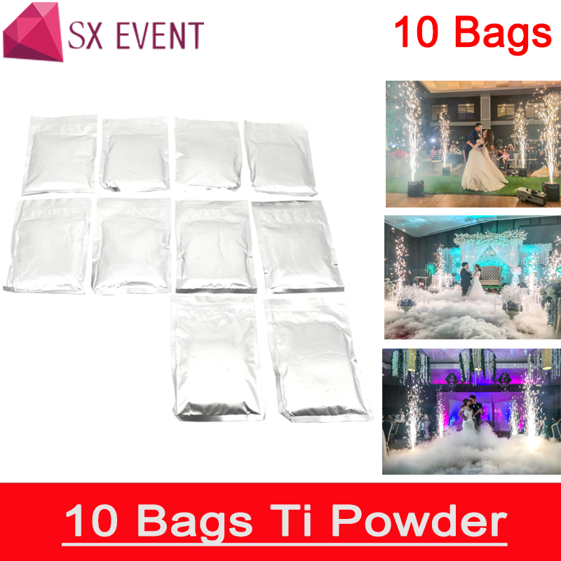 Stage Lighting Effect Commercial Lighting 10bags/lot Outdoor Indoor Cold Spark Sparkler Pyro Pyrotechnics Fireworks Machine Metal Titanium Powder Yet Not Vulgar